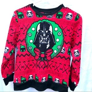 Star Wars Darth Vader Christmas Sweater boy Medium